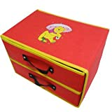 Disney Winnie Pooh Clothing Stuff Box Storage Case Orgnizer Middle Size