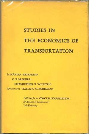 Studies in the Economics of Transportation