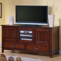 Cheap TV Stands Mission Style Media Console with Doors and Drawers by Coaster (B0051PEG2C)