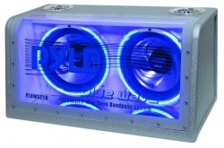 PYLE PLBWS212 Dual 12-Inch 1200 Watt Bandpass with Neon Woofer Rings from Pyle