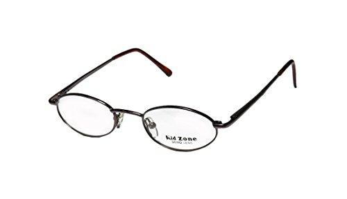 kid-zone-412-unisex-boys-girls-kids-oval-full-rim-eyeglasses-glasses-44-18-125-brown