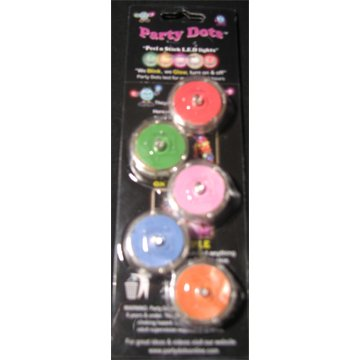 Party Dots - Assorted Peel N Stick Led Light - 20 Pack