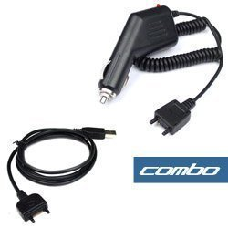 USB Data Cable + Rapid Car Charger for T-Mobile Sony Ericsson TM506