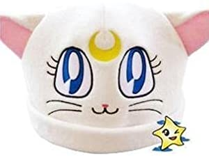 Sailor Moon White Cat Luna Plush Hat Costumes Cosplay KTWJ200