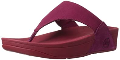 FitFlop Lulu Canvas Womens Casual Sandals Rio Pink 3.0