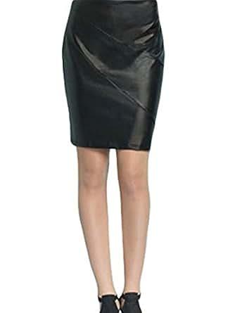 clara sunwoo liquid leather skirt m black at