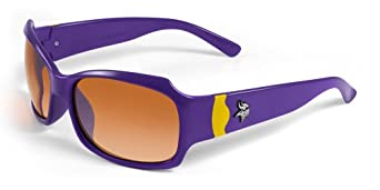 NFL Minnesota Vikings Bombshell Sunglasses with Bag, Purple Yellow by Maxx