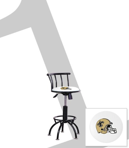 "New Orleans Saints Themed Adjustable Height 24""-29"" Black Metal Finish Swivel Seat Bar Stool! at Amazon.com"