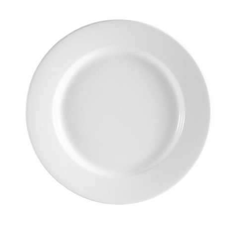Cac China Rcn-6 Clinton Rolled Edge 6-1/4-Inch Super White Porcelain Plate, Box Of 36