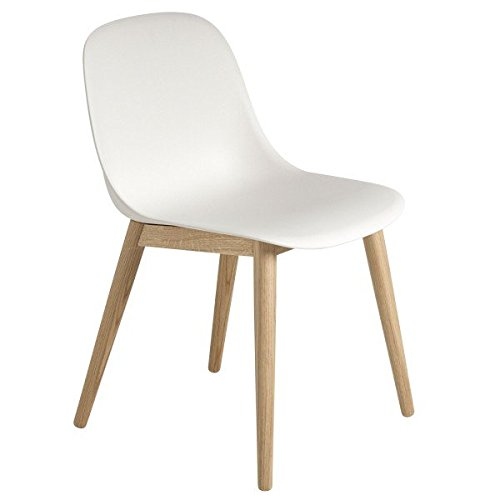 Fiber Side Chair - Wood Base - Oak/White