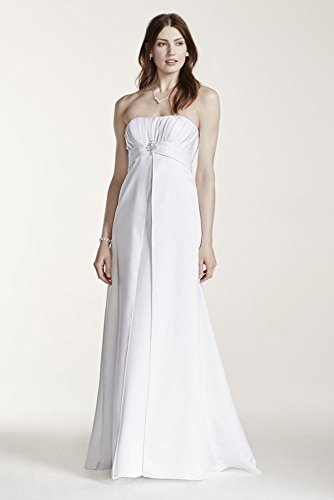 SAMPLE: Strapless Satin Wedding Dress with Pleated Bodice Style AI10012372,...