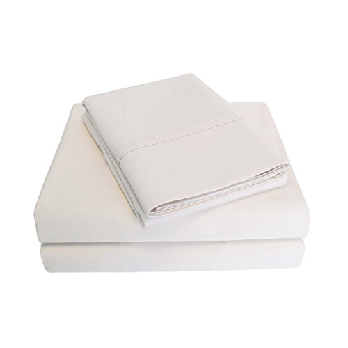 1000 Thread Count 100% Cotton, 6-Piece Full Bed Sheet Set ( BONUS Pillowcases ) Solid, Ivory (Full Sheet Inc Modal compare prices)
