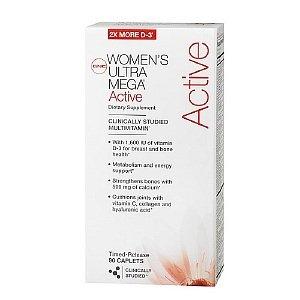 Gnc Women'S Ultra Mega Active Multivitamin, Timed Release Caplets 90 Ea