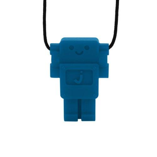 Jellystone Robot 13 Pendant Teether Kids Necklace - Blue Hawaiian