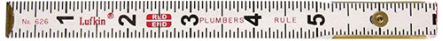 "Lufkin 626LN 6' x 5/8"" Plumbers Wood Rule Red End"