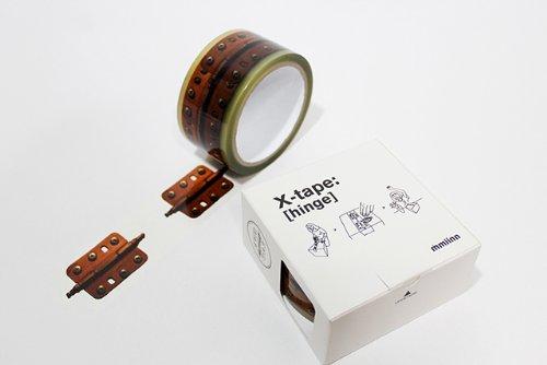 X-tape インテリア用 蝶番柄 (Hinge) ギフトラッピング テープ(50mm×30m)