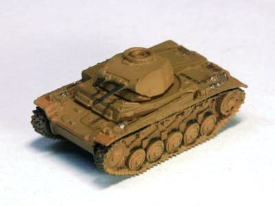 ドイツ軍 �U号戦車 軽戦車 F型 砂漠迷彩(ダークイエロー)