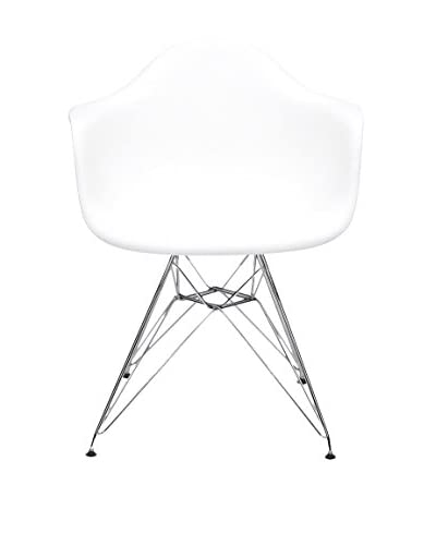 Macer Home Wire Arm Chair, White