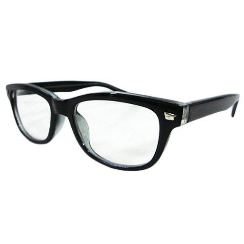 ウェリントン型サングラス 黒ぶち眼鏡 (ブラック) [ウェア&シューズ]