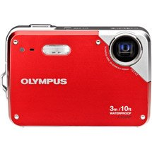 Olympus 10 Megapixel Waterproof 3X Optical Zoom Digital Camera Red