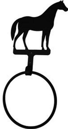 Iron Horse Towel Ring - Black Metal