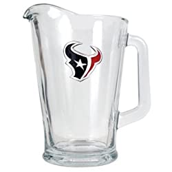 Houston Texans 60oz Glass Pitcher - Primary Logo NFL Football