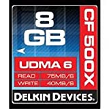 Delkin 8GB Rated 500X Compact Flash Memory Card
