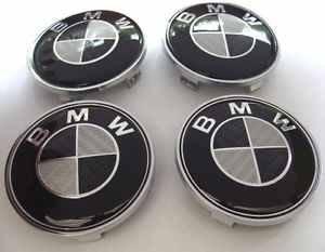 x4-bmw-noir-et-blanc-effet-carbone-centre-roues-en-alliage-hub-housses-de-68-mm-e39-e60-f10-f12-f20-