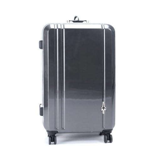 CONTINENTS(トランスコンチネンツ)キャリーケース スーツケース ダブルキャスター TSAロック搭載 軽量 (90)ガンメタ Free