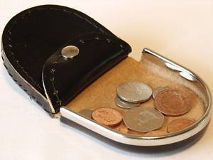 Leather Emporium Mens Quality Black Leather Coin Tray Purse Wallet Rim