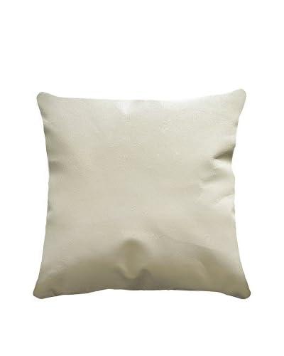 Sienna Leather Pillow, White
