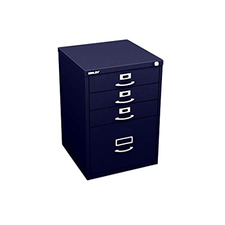 Bisley F-Series 50 71 cm Classic Front 1F3 1 Filing and 3 Storage Drawers - Oxford Blue