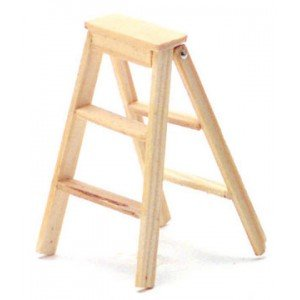 Dollhouse High Stepladder, 2 In - 1