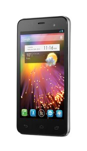 Alcatel One Touch Star Smartphone (10,2 cm (4 Zoll) AMOLED-Display, 1GHz, Dual-Core, 512MB RAM, 4GB interner Speicher, 5 Megapixel Kamera, Android 4.1) grau