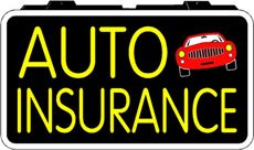 Auto Insurance Backlit Illuminated Window Sign