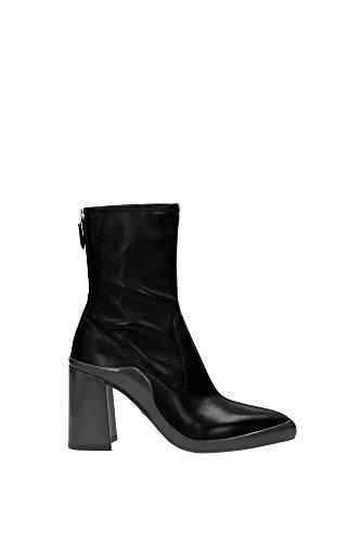 1U209GNEGROGRIGIO-Prada-Chaussure-mi-montantes-Femme-Cuir-Noir