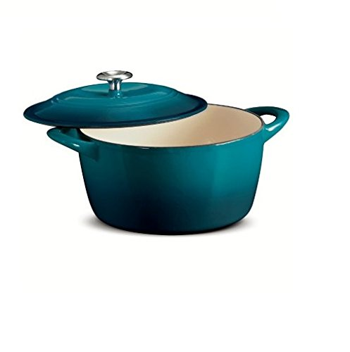 Tramontina Enameled Cast Iron 6.5 Qt Covered Round Dutch Oven (Cast Iron Small Dutch Oven compare prices)