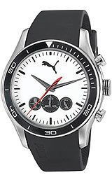 Puma Active - Chrono Silver Black Men's watch #PU102581002