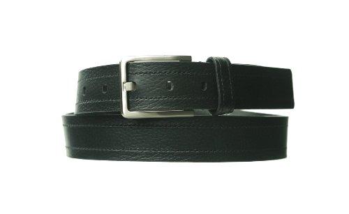 Calvin Klein 73930 Leather Men'S Belt Size 32 Waist Black Genuine Fashion Dress