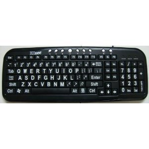 Ergoguys Ezsee Low Vision Keyboard Large White Print Black Keys