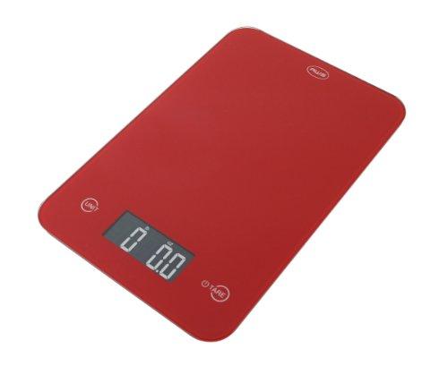 AWS ONYX-5K-RD 5 kg X 1G Amw verre Balance de cuisine - Rouge