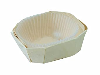PacknWood 209MC9 MINIMI Wooden Baking Mold, Baking Liner Included, 2 oz. Capacity (Pack of 500)
