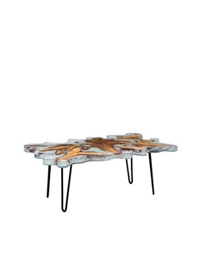 Zuo Jigsaw Rectangular Coffee Table, Natural