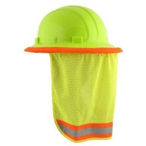 Neck Sun Shield For Hard Hats Hi Visibility Mesh - Hi Viz Li