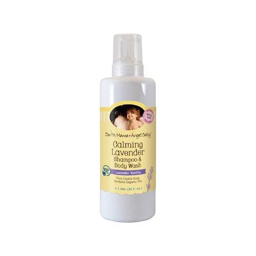 Earth Mama Angel Baby Shampoo And Body Wash - Organic Lavender - 34 Oz