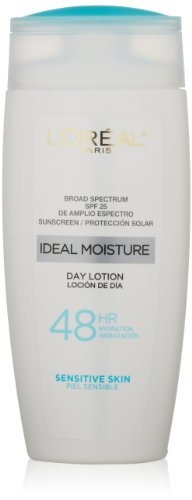 L'Oreal Paris Ideal Moisture Day Lotion Spf 25, Sensitive Skin, 4.0 Fluid Ounce