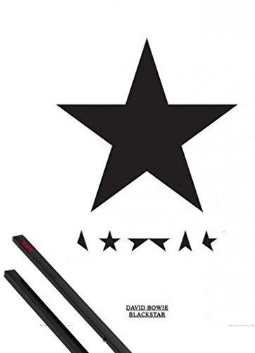 Poster + Sospensione : David Bowie Poster Stampa (91x61 cm) Blackstar e Coppia di barre porta poster nere 1art1®