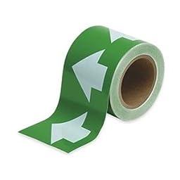 Arrow Tape, White/Green, 4 In. W
