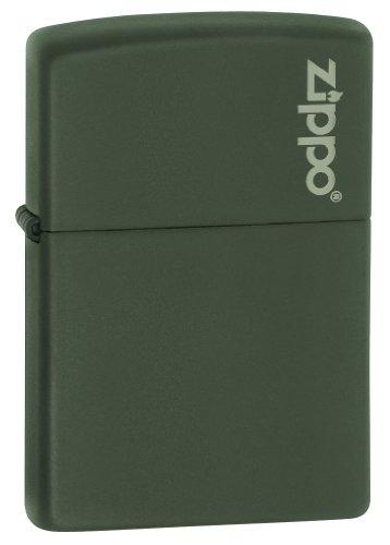 Zippo Lighter Green Matte w Zippo Logo