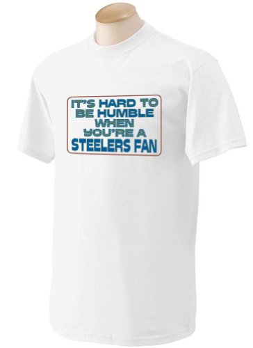 It's hard to be humble when you're a Steelers Fan Youth T-Shirt (for Kids) WHITE LARGE